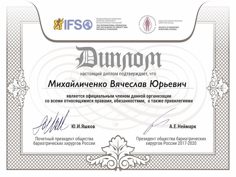 Михайличенко общество бариатрических хирургов